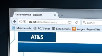 Bild der AT&S Webseite