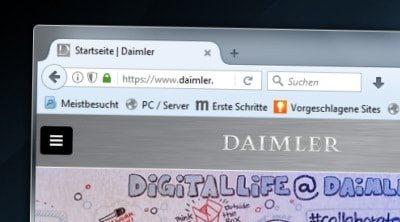 Bild der Daimler Webseite