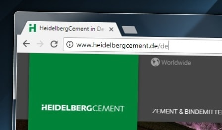 HeidelbergCement AG-Website